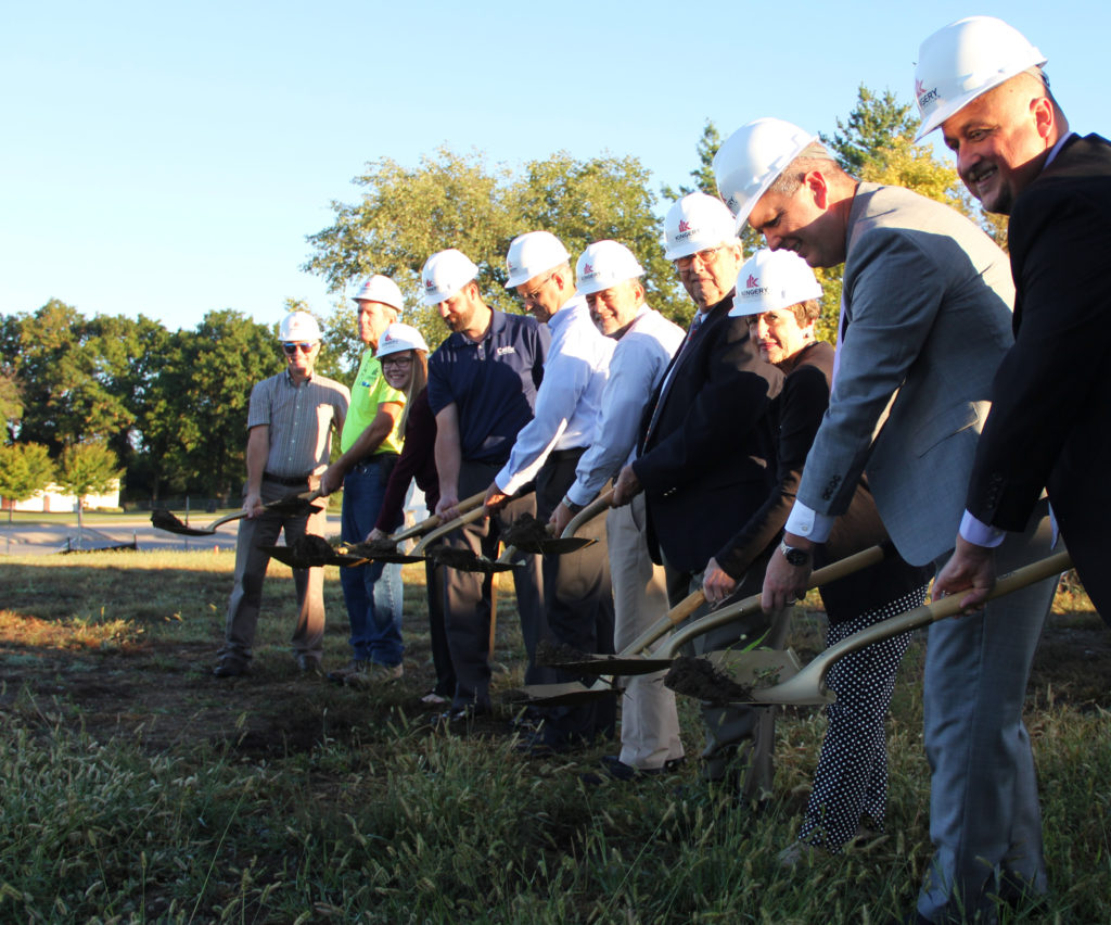 Ground Breaking with shovels 5